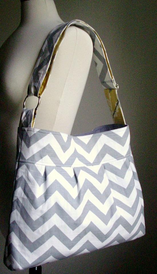 chevron is my new pattern addiction. Gray Chevron    Adjustable Strap Bag by Deyitta on Etsy, $74.00
