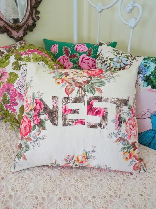 fabulous florals pillow cover