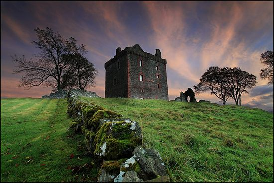 Ruins of Balvaird Castle in Scotland