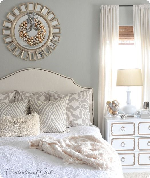 Pretty white bedroom.