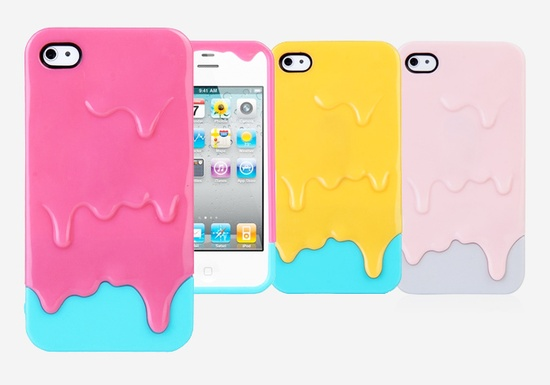Ice Cream Sandwich IPhone Case by MoreOutside: Includes screen protector.