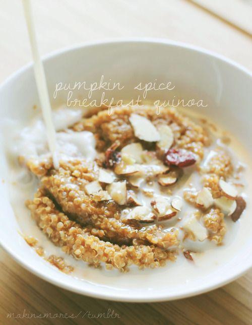 pumpkin spice breakfast quinoa