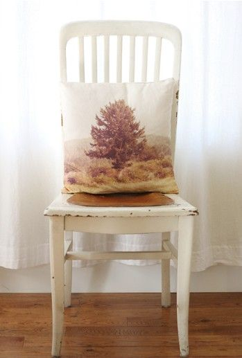 DIY Landscape Pillows  using your own photographs