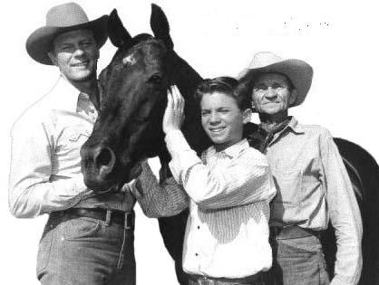 """Fury"" was a black American standard-bred stallion who starred on Saturday morning TV during the early 1960s. His registered name as ""Highland Dale"".  He also starred as Elizabeth Taylor's horse ""War Winds"" in the movie ""Giant"".  The show starred Peter Graves, Bobby Diamond and William Fawcett."