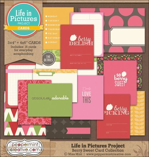 Free project life printable cards