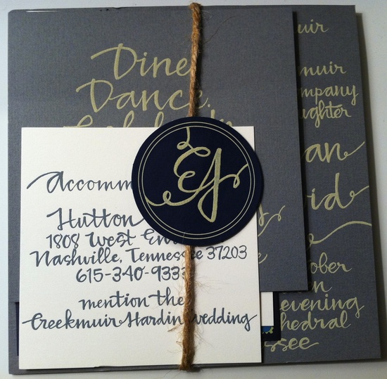 Handmade invitation by the bride... unreal. @Elizabeth Creekmuir