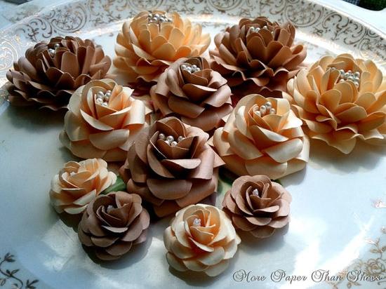 Handmade Paper Flowers - Mix Lot - Custom Colors