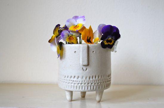 Small tripod planter in matt white glaze by AtelierStellaLondon, £34.00