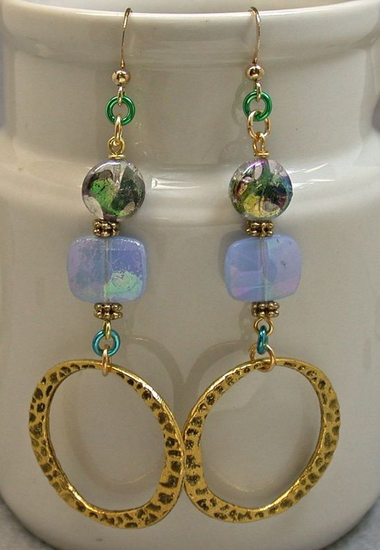 Fabulous handmade earrings  - like the variety of components