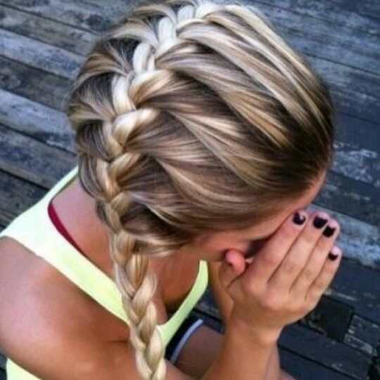 Side french braid- love this but no instructions