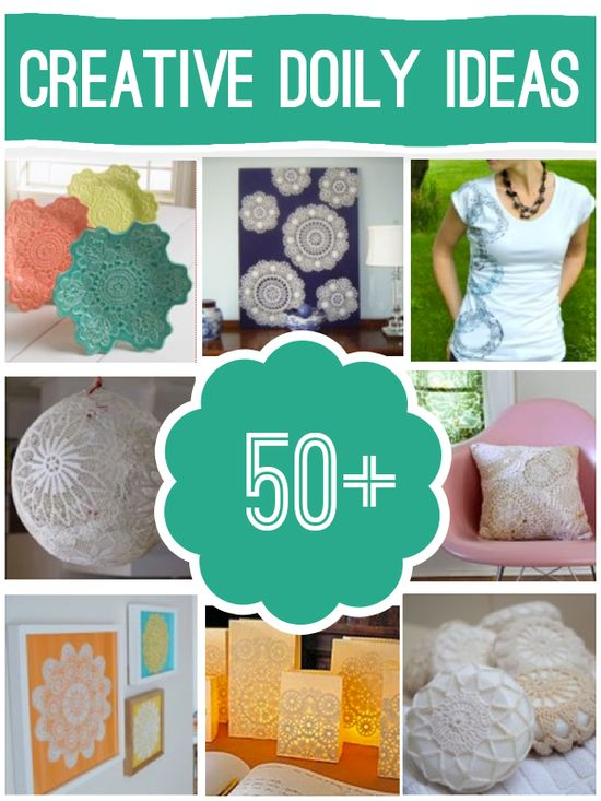 Over 50 cool jewely, home decor and more projects to make using doilies @savedbyloves