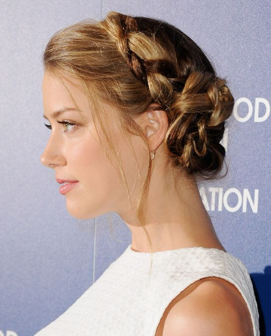 Amber Heard's cool braid hairstyle