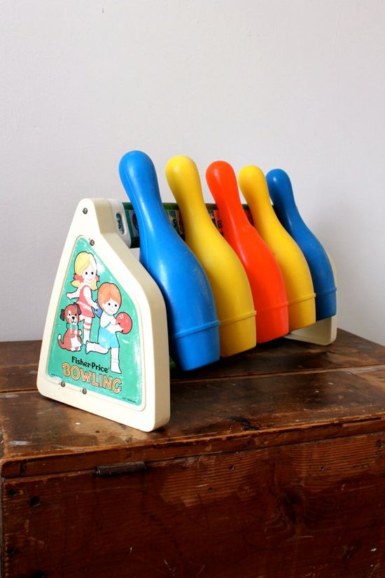 70s FisherPrice Bowling toy by PourToujours on Etsy, $30.00