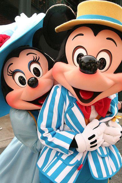 Mickey and Minnie on Dapper Day