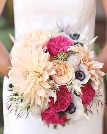 amazing ivory & fuchsia bouquet