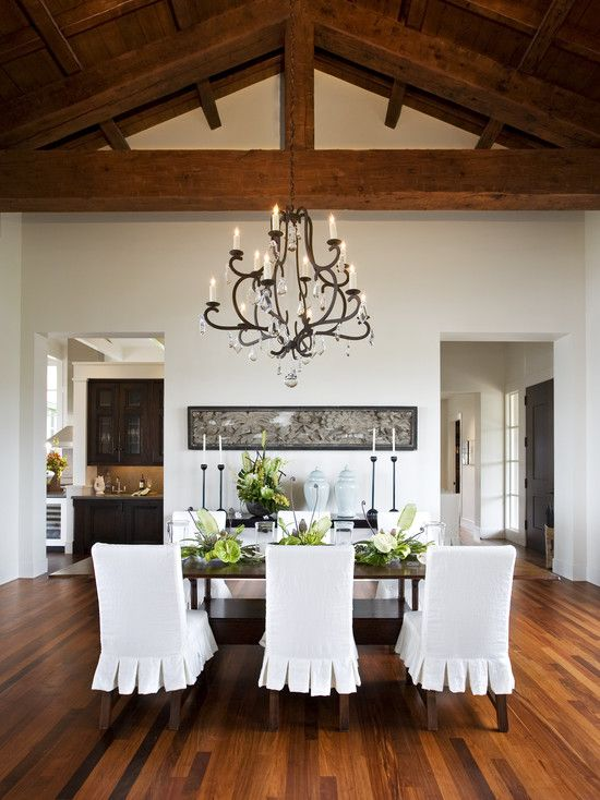 Slipcovered Dining Room Chairs Design, Pictures, Remodel, Decor and Ideas - page 2