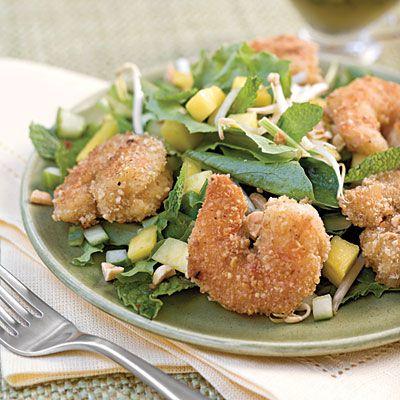 Spring Salad Recipes: Peanut Shrimp Salad With Basil-Lime Dressing