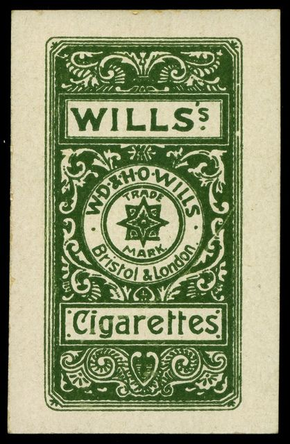 Cigarette Card Back - Wills Actresses Four Colour