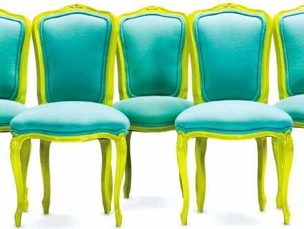 I love bright furniture.