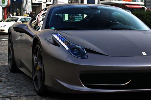 Matte Grey Ferrari 458