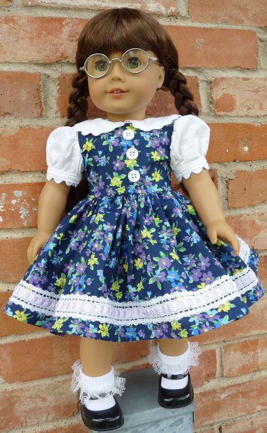 RESERVED LISTING 18 Doll Clothes 1950s Style Party Dress Fits American Girl Molly, Emily, Kit, Ruthie