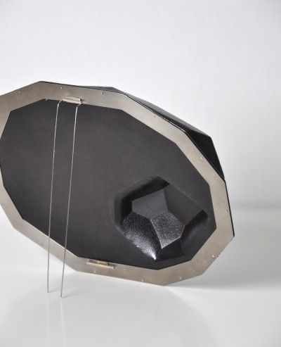 Sanna Svedestedt brooch leather 2009 black diamond