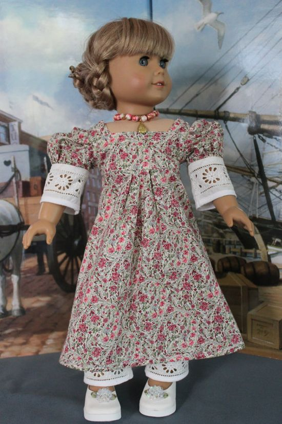American Girl Doll Clothes  Regency Style by ForAllTimeDesigns, $55.00
