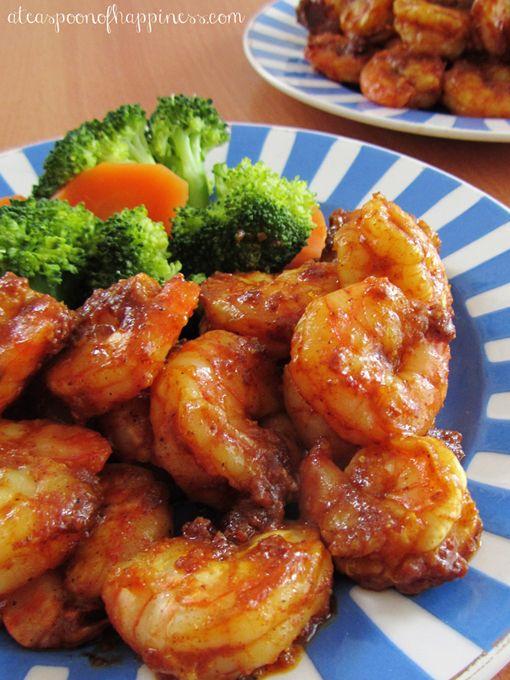 spicy & sweet moroccan shrimp