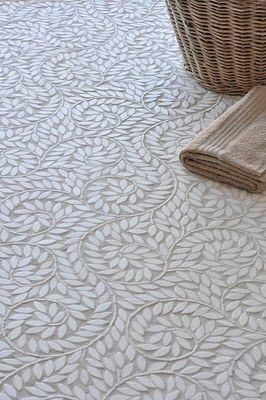 mosaic tile floors... LOVE the