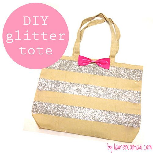 DIY Glitter Tote by @lauren conrad #ScotchStyle