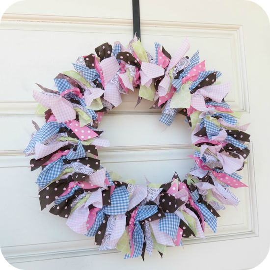 Baby Girl Rag Wreath