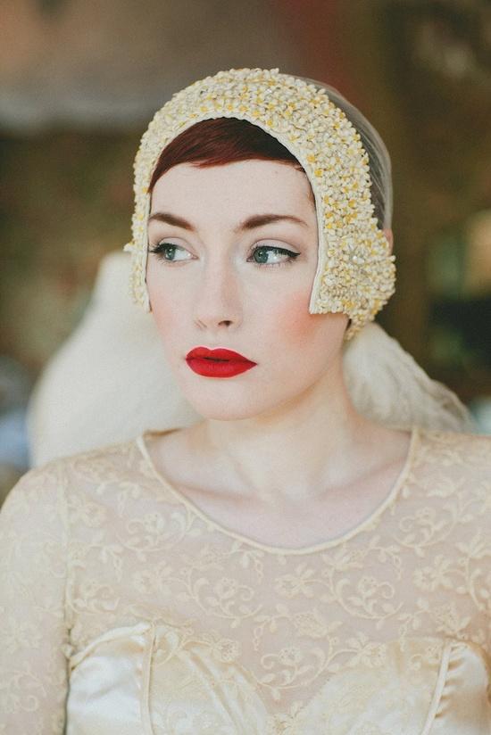 1920s Wedding Dress // Vintage 20s Lace Flapper Dress // Antique Lace Dress // 1920s Headpiece.
