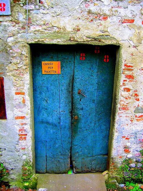 Blue doors...