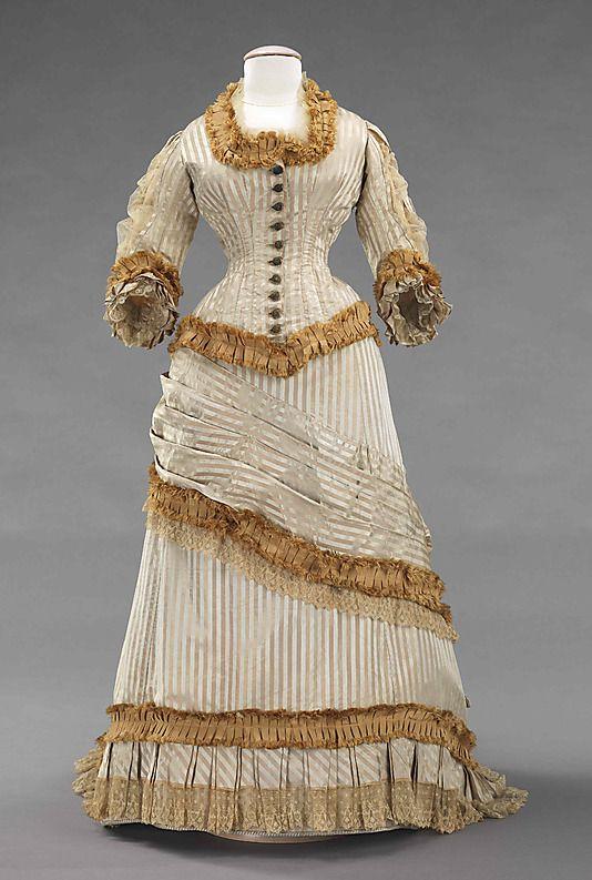 American Silk Dinner Dress, 1878-80