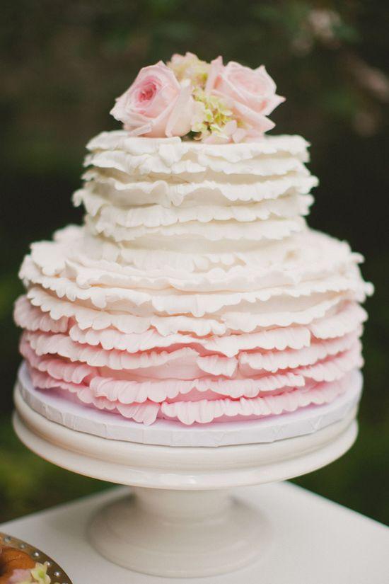 ruffled petal wedding cake