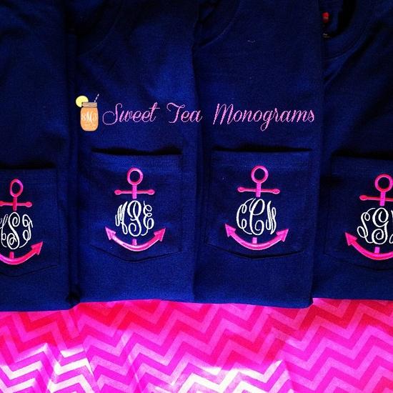 Sweet Tea Monogram Anchor Tees