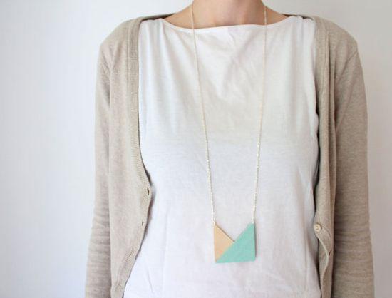 geometric - triangle necklace