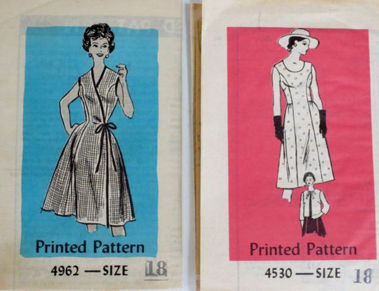 Vintage 1950s1960s Dress Patterns Bust 3840 Anne Adams by linbot1, $12.00