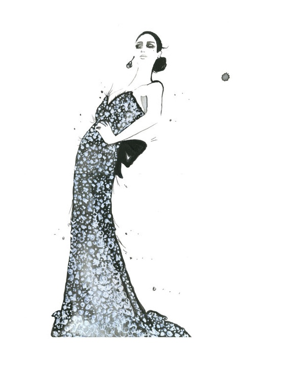 Sequin and Sparkle, #fashion #illustration