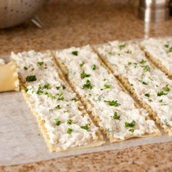 Creamy White Chicken Lasagna Roll Ups Recipe - Cooking Classy.