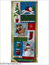 Bucilla ® Seasonal - Felt - Home Decor - Christmas Patchwork Wall Hanging. Continue the holiday traditions with new heart-warming designs for this special family season. #crafts #bucilla #plaidcrafts #felt #christmas
