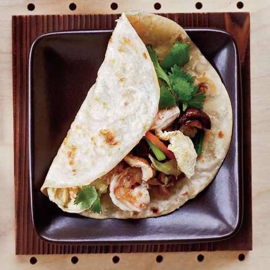 Moo Shu Shrimp // Fabulous Fast Asian Recipes: www.foodandwine.c... #foodandwine