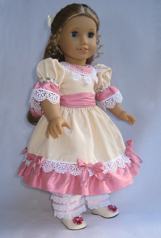 Pink and peach doll dress.