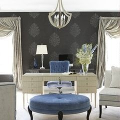 eclectic home office elegance at its best! I need this home office.