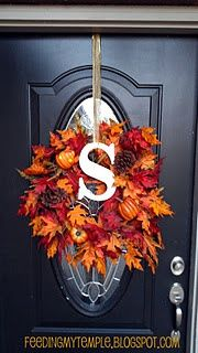 DIY Monogrammed Fall #home decorating before and after #modern house design #home decorating #home designs