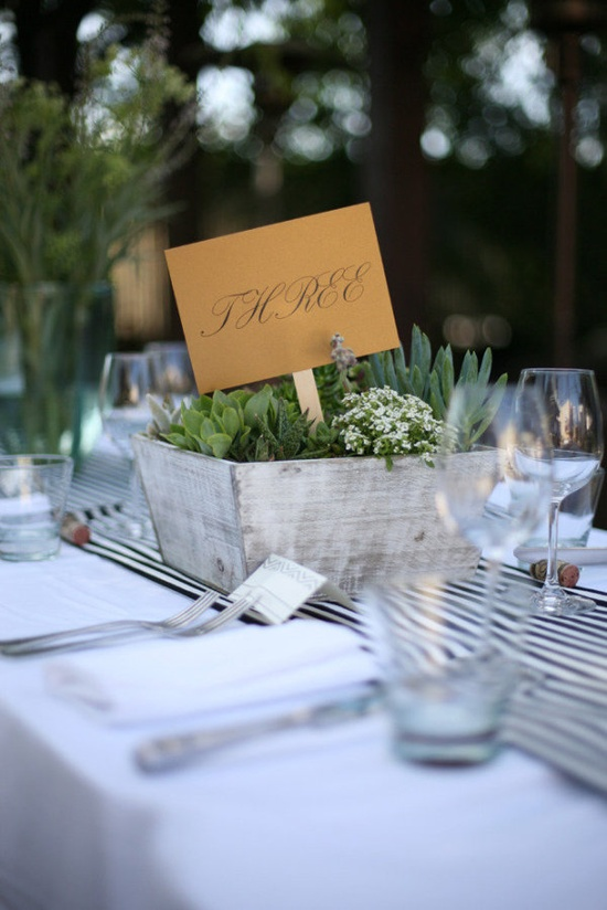 organic striped centerpieces  Photography by leahleephotograph..., Floral Design by dragonflyhealdsbu...