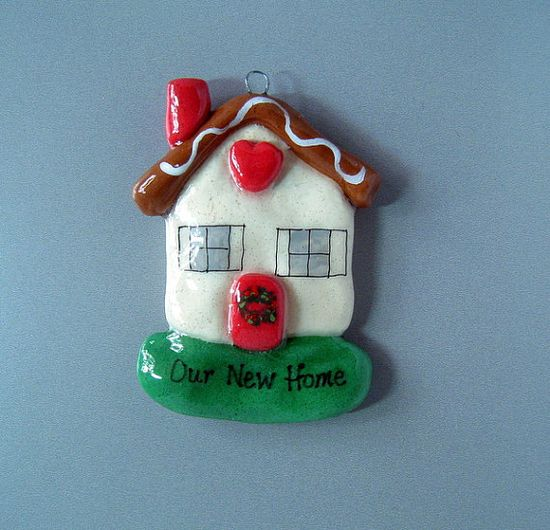 New Home Christmas Ornament handmade bread dough by JudyCaron, $14.95
