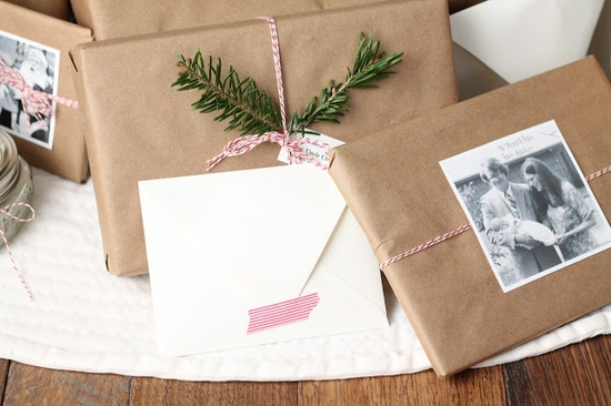 Christmas Gift Wrap - love the photo of the person receiving the gift idea
