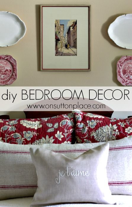 DIY Bedroom Decor ~ find out how to update a tired bedroom in an easy and budget-friendly way!