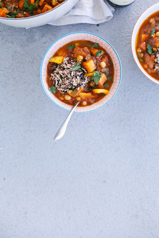 moroccan-style vegetable + chickpea stew
